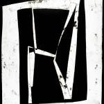 senza titolo bitume su carta cm.109.98 2003 (untitled bitumen on paper)