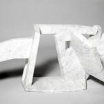 ritratto industriale V marmo di Carrara cm.51.120.46 2007 (industrial portrait V – Carrara marble)